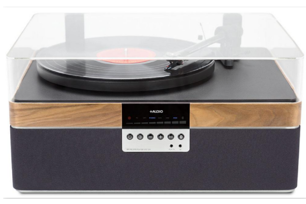 Plus Audio +Record Player front walnut