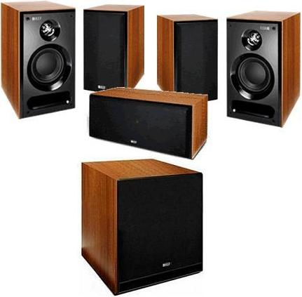KEF C1 + C6 LCR + C4 5.1 Speakers Package Walnut
