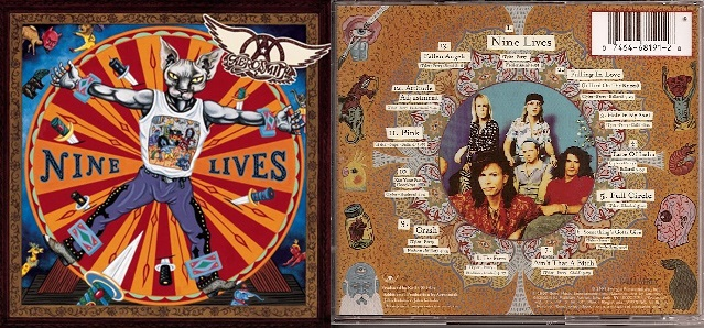 Aerosmith Nine Lives Artwork