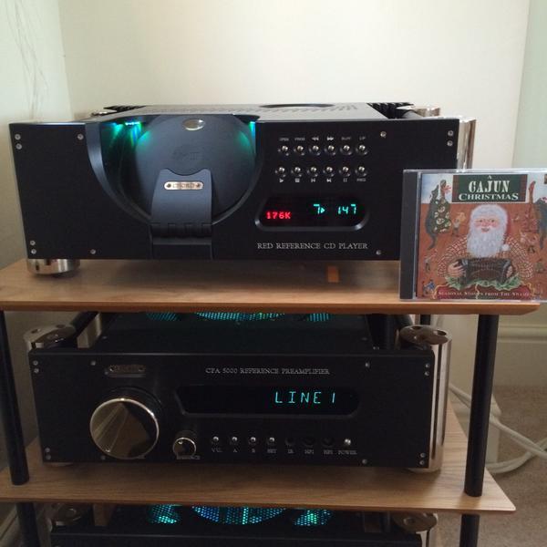 "NigelNorman via Twitter: ""Chord Electronics Red Reference III CD Player enjoying a Cajun Christmas. #audioaffair #hi-fi"""