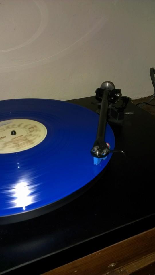 """Dave Grainger via Facebook: """"Rega P3 and elys 2 cartridge with hawkwind on blue vinyl"""""""