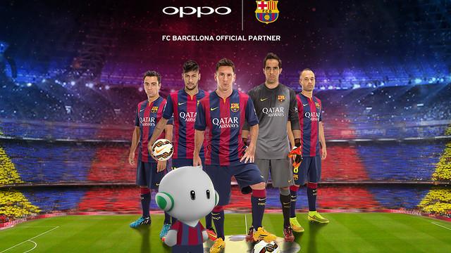 Oppo New FC Barc Sponsor