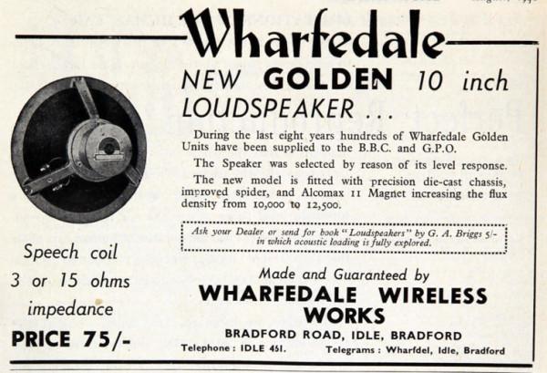 Vintage Wharfedale Advert