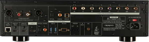 UDP-205 rear panel
