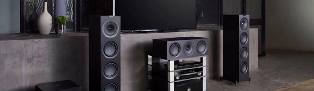 KEF Q650C with Q750 floorstanding speakers
