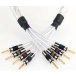 QED Genesis Silver Spiral Bi Wire Speaker Cable - Per Metre