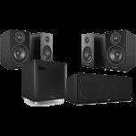 Acoustic Energy 100 5.1 Speaker Package Walnut