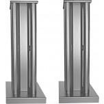 Partington Broadside Speaker Stands (Pair) Silver
