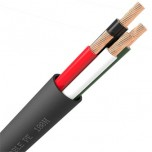QED QX16/4 Outdoor 4-Core Black Speaker Cable - Per Metre